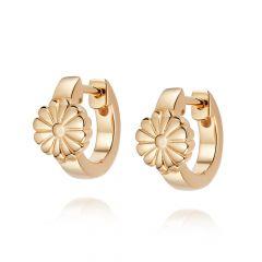 Daisy London Bloom 18CT Gold-Plated Huggie Hoop Earrings