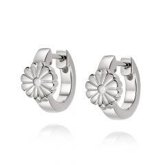 Daisy London Bloom Sterling Silver Huggie Hoop Earrings