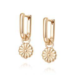 Daisy London Bloom 18CT Gold-Plated Drop Huggie Hoop Earrings