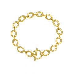 Estella Bartlett Oval Link Gold-Plated T-Bar Chain Bracelet