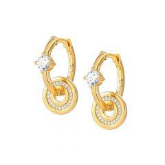 Nomination Sentimental Gold Circles & Stones Hoop Earrings