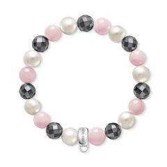Thomas Sabo Rose, Pearl & Hematite Bracelet