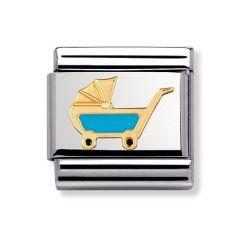 Nomination Composable Classic Blue Enamel Pram Charm