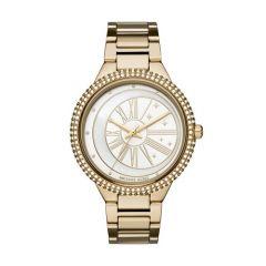 Michael Kors Ladies Mini Parker Gold Tone Black Dial 33m Watch