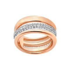 Swarovski Exact Rose-Gold Tone Plated Band Ring