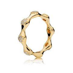 Pandora Modern Love Pod 14K Gold-Plated Ring