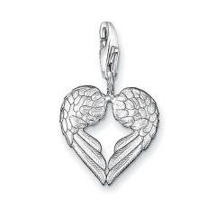 Thomas Sabo Silver Heart Wings Charm