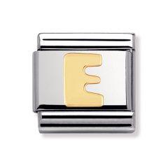 Nomination Composable Classic Letter E Charm