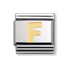 Nomination Composable Classic Letter F Charm