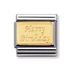 Nomination Composable Classic Happy Birthday Charm