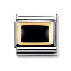 Nomination Composable Classic Black Rectangle Charm