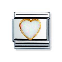Nomination Composable Classic Opal Heart Charm