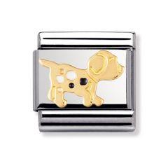 Nomination Composable Classic  18ct Gold & Enamel Dog Charm