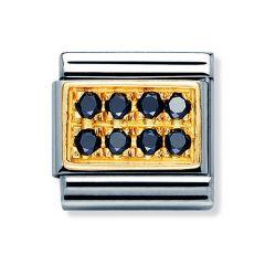 Nomination Composable Classic Black Zirconia Pave Charm