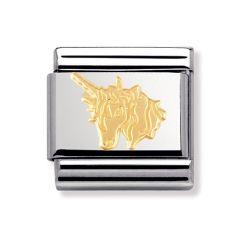 Nomination Unicorn Gold & Steel Composable Classic Charm