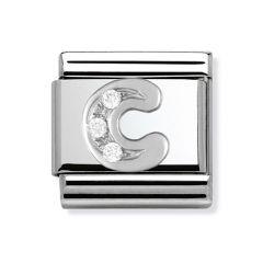 Nomination Composable Classic Silver & Zirconia Letter C Charm