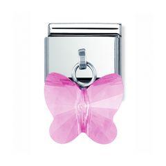 Nomination Composable Pink Swarovski Buttlerfly Drop Charm