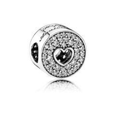 Pandora Silver And Zirconia Happy Anniversary Charm
