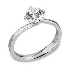 Luxe 'Waltz' Round-Brilliant Diamond Engagement Ring