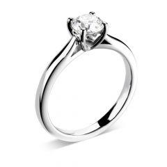 Luxe 'Love' Round-Brilliant Diamond Engagement Ring