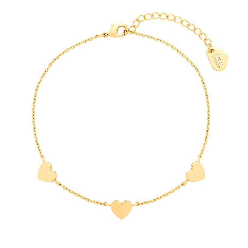 Estella Bartlett Gold-Plated 3 Heart Bracelet