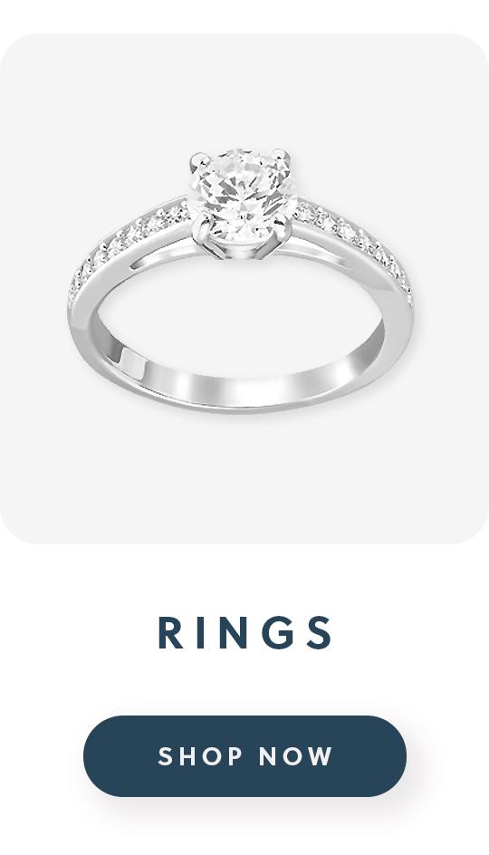 A Swarovski ring wtih text rings shop now
