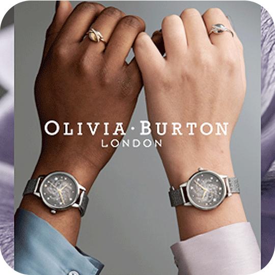 Two Olivia Burton watches on wrists
